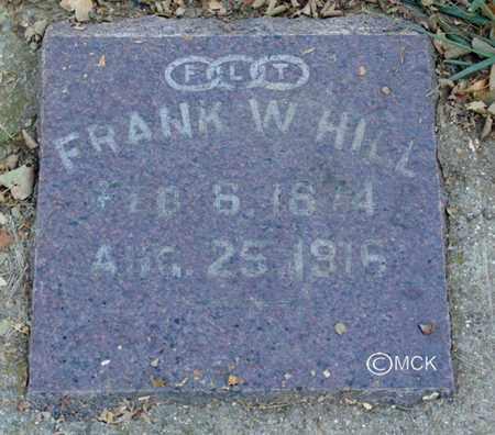 HILL, FRANK W. - Minnehaha County, South Dakota | FRANK W. HILL - South Dakota Gravestone Photos