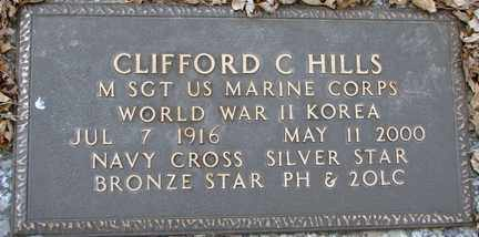 HILLS, CLIFFORD C. (WWII - KOREA) - Minnehaha County, South Dakota | CLIFFORD C. (WWII - KOREA) HILLS - South Dakota Gravestone Photos