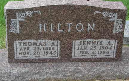 HILTON, JENNIE A. - Minnehaha County, South Dakota   JENNIE A. HILTON - South Dakota Gravestone Photos