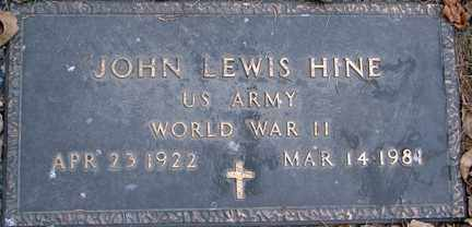 HINE, JOHN LEWIS (WWII) - Minnehaha County, South Dakota | JOHN LEWIS (WWII) HINE - South Dakota Gravestone Photos