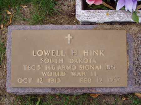 HINK, LOWELL H. - Minnehaha County, South Dakota | LOWELL H. HINK - South Dakota Gravestone Photos