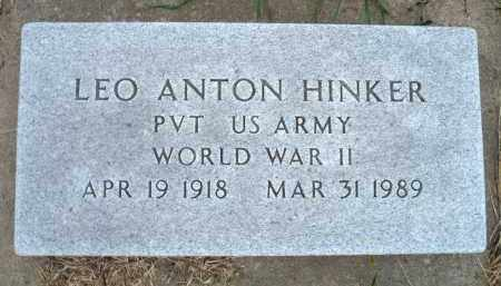 HINKER, LEO ANTON - Minnehaha County, South Dakota | LEO ANTON HINKER - South Dakota Gravestone Photos