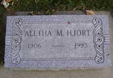 HJORT, ALETHA M. - Minnehaha County, South Dakota | ALETHA M. HJORT - South Dakota Gravestone Photos