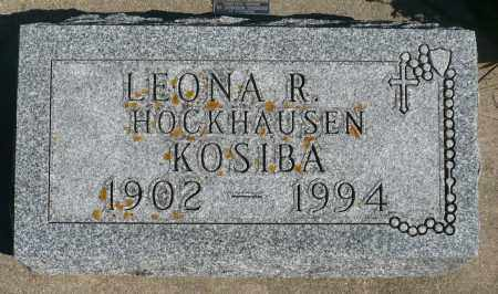 KOSIBA, LEONA R. - Minnehaha County, South Dakota | LEONA R. KOSIBA - South Dakota Gravestone Photos