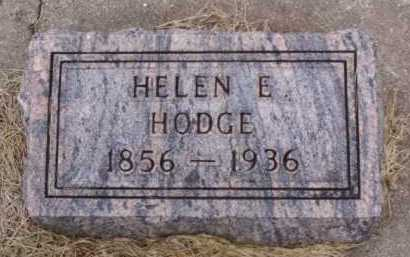 HODGE, HELEN E. - Minnehaha County, South Dakota | HELEN E. HODGE - South Dakota Gravestone Photos