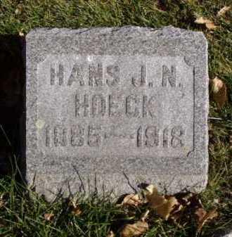 HOECK, HANS J.N. - Minnehaha County, South Dakota | HANS J.N. HOECK - South Dakota Gravestone Photos
