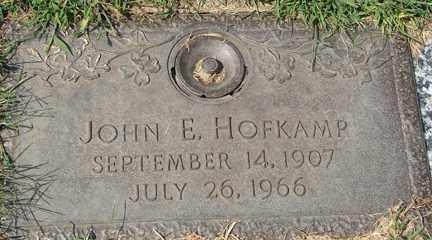HOFKAMP, JOHN E. - Minnehaha County, South Dakota   JOHN E. HOFKAMP - South Dakota Gravestone Photos