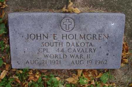 HOLMGREN, JOHN E. - Minnehaha County, South Dakota | JOHN E. HOLMGREN - South Dakota Gravestone Photos
