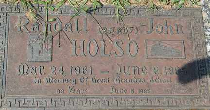 HOLSO, RANDALL JOHN - Minnehaha County, South Dakota | RANDALL JOHN HOLSO - South Dakota Gravestone Photos