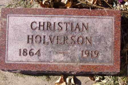 HOLVERSON, CHRISTIAN - Minnehaha County, South Dakota | CHRISTIAN HOLVERSON - South Dakota Gravestone Photos