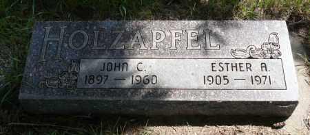 HOLZAPFEL, ESTHER A. - Minnehaha County, South Dakota | ESTHER A. HOLZAPFEL - South Dakota Gravestone Photos