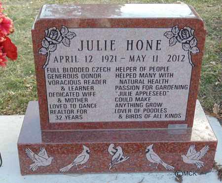 HONE, JULIE - Minnehaha County, South Dakota   JULIE HONE - South Dakota Gravestone Photos