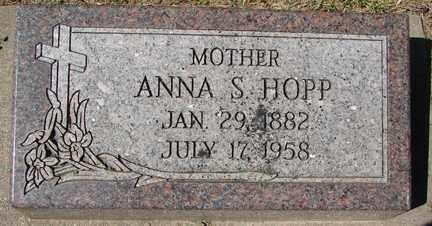 HOPP, ANNA S. - Minnehaha County, South Dakota | ANNA S. HOPP - South Dakota Gravestone Photos