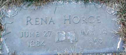 HORGE, RENA - Minnehaha County, South Dakota | RENA HORGE - South Dakota Gravestone Photos