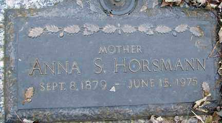 HORSMANN, ANNA S. - Minnehaha County, South Dakota | ANNA S. HORSMANN - South Dakota Gravestone Photos