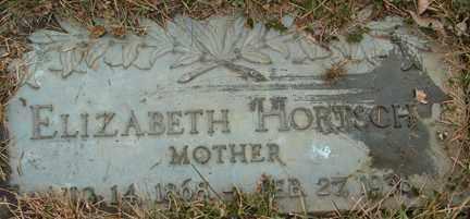 HORTSCH, ELIZABETH - Minnehaha County, South Dakota | ELIZABETH HORTSCH - South Dakota Gravestone Photos