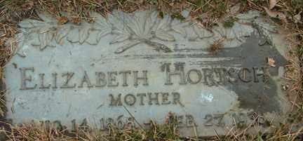 HORTSCH, ELIZABETH - Minnehaha County, South Dakota | ELIZABETH HORTSCH - South Dakota Gravestone Photos