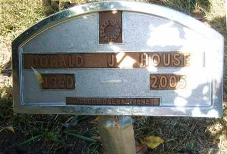 HOUSE, DONALD J. - Minnehaha County, South Dakota   DONALD J. HOUSE - South Dakota Gravestone Photos
