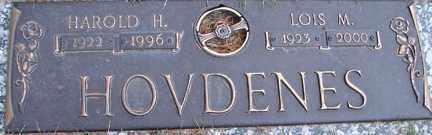 HOVDENES, HAROLD H. - Minnehaha County, South Dakota | HAROLD H. HOVDENES - South Dakota Gravestone Photos