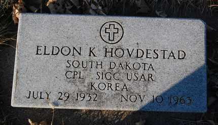 HOVDESTAD, ELDON K. (MILITARY) - Minnehaha County, South Dakota   ELDON K. (MILITARY) HOVDESTAD - South Dakota Gravestone Photos