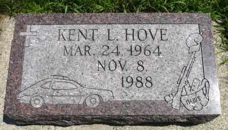 HOVE, KENT L. - Minnehaha County, South Dakota | KENT L. HOVE - South Dakota Gravestone Photos