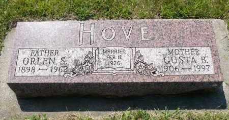 HOVE, GUSTA B. - Minnehaha County, South Dakota | GUSTA B. HOVE - South Dakota Gravestone Photos
