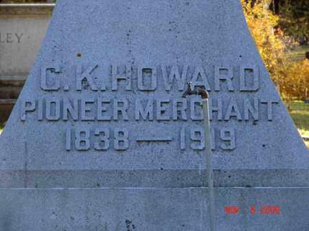 HOWARD, C.K. - Minnehaha County, South Dakota | C.K. HOWARD - South Dakota Gravestone Photos