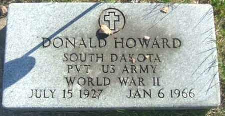 HOWARD, DONALD - Minnehaha County, South Dakota | DONALD HOWARD - South Dakota Gravestone Photos