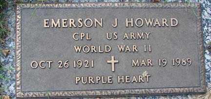 HOWARD, EMERSON J. - Minnehaha County, South Dakota | EMERSON J. HOWARD - South Dakota Gravestone Photos