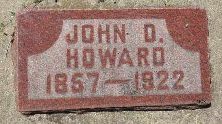 HOWARD, JOHN D. - Minnehaha County, South Dakota   JOHN D. HOWARD - South Dakota Gravestone Photos