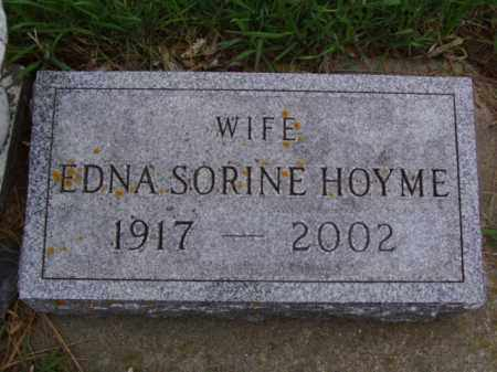 HOYME, EDNA SORINE - Minnehaha County, South Dakota   EDNA SORINE HOYME - South Dakota Gravestone Photos
