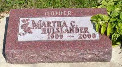 HULSLANDER, MARTHA C. - Minnehaha County, South Dakota   MARTHA C. HULSLANDER - South Dakota Gravestone Photos
