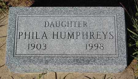 HUMPHREYS, PHILA - Minnehaha County, South Dakota | PHILA HUMPHREYS - South Dakota Gravestone Photos