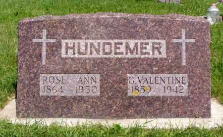 DARRAH HUNDEMER, ROSE ANN - Minnehaha County, South Dakota | ROSE ANN DARRAH HUNDEMER - South Dakota Gravestone Photos