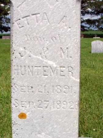 HUNTEMER, ETTA A. - Minnehaha County, South Dakota | ETTA A. HUNTEMER - South Dakota Gravestone Photos