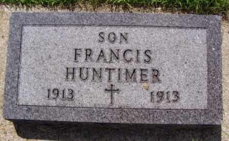 HUNTIMER, FRANCIS - Minnehaha County, South Dakota | FRANCIS HUNTIMER - South Dakota Gravestone Photos