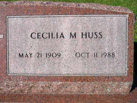 HUSS, CECILIA M. - Minnehaha County, South Dakota   CECILIA M. HUSS - South Dakota Gravestone Photos