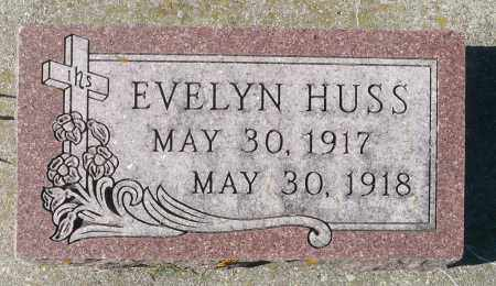 HUSS, EVELYN - Minnehaha County, South Dakota   EVELYN HUSS - South Dakota Gravestone Photos