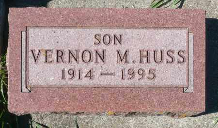 HUSS, VERNON M. - Minnehaha County, South Dakota | VERNON M. HUSS - South Dakota Gravestone Photos