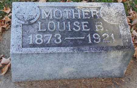 HUSTON, LOUISE B. - Minnehaha County, South Dakota   LOUISE B. HUSTON - South Dakota Gravestone Photos