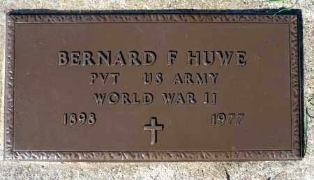 HUWE, BERNARD F. (WWII) - Minnehaha County, South Dakota | BERNARD F. (WWII) HUWE - South Dakota Gravestone Photos