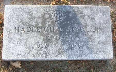 HYDE, HADLEIGH D. JR. - Minnehaha County, South Dakota | HADLEIGH D. JR. HYDE - South Dakota Gravestone Photos