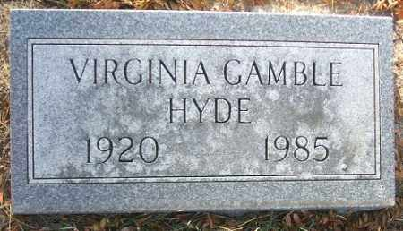 GAMBLE HYDE, VIRGINIA - Minnehaha County, South Dakota | VIRGINIA GAMBLE HYDE - South Dakota Gravestone Photos
