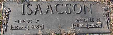 ISAACSON, ALFRED W. - Minnehaha County, South Dakota | ALFRED W. ISAACSON - South Dakota Gravestone Photos
