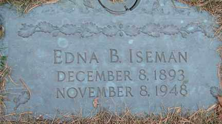 ISEMAN, EDNA B. - Minnehaha County, South Dakota | EDNA B. ISEMAN - South Dakota Gravestone Photos