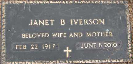 BROKOW IVERSON, JANET B. - Minnehaha County, South Dakota | JANET B. BROKOW IVERSON - South Dakota Gravestone Photos