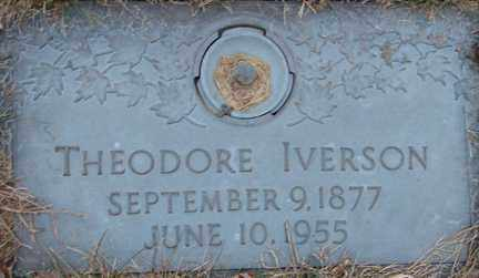 IVERSON, THEODORE - Minnehaha County, South Dakota   THEODORE IVERSON - South Dakota Gravestone Photos