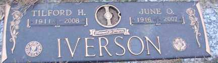 IVERSON, TILFORD H. - Minnehaha County, South Dakota | TILFORD H. IVERSON - South Dakota Gravestone Photos