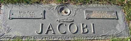 JACOBI, BRUNO A. - Minnehaha County, South Dakota | BRUNO A. JACOBI - South Dakota Gravestone Photos