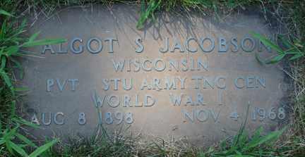 JACOBSON, ALGOT S. - Minnehaha County, South Dakota | ALGOT S. JACOBSON - South Dakota Gravestone Photos